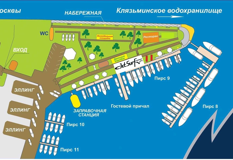 Расположение JETSURF RUSSIA на Ярмарке катеров и яхт